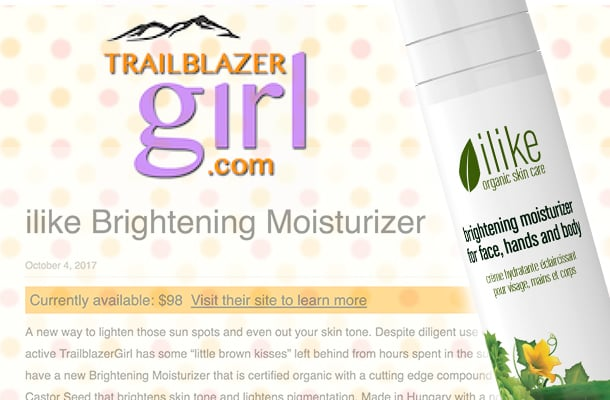 Trailblazergirl.com Features How to Brighten with ilike