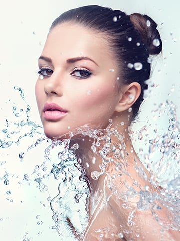 hyaluronic acid and water